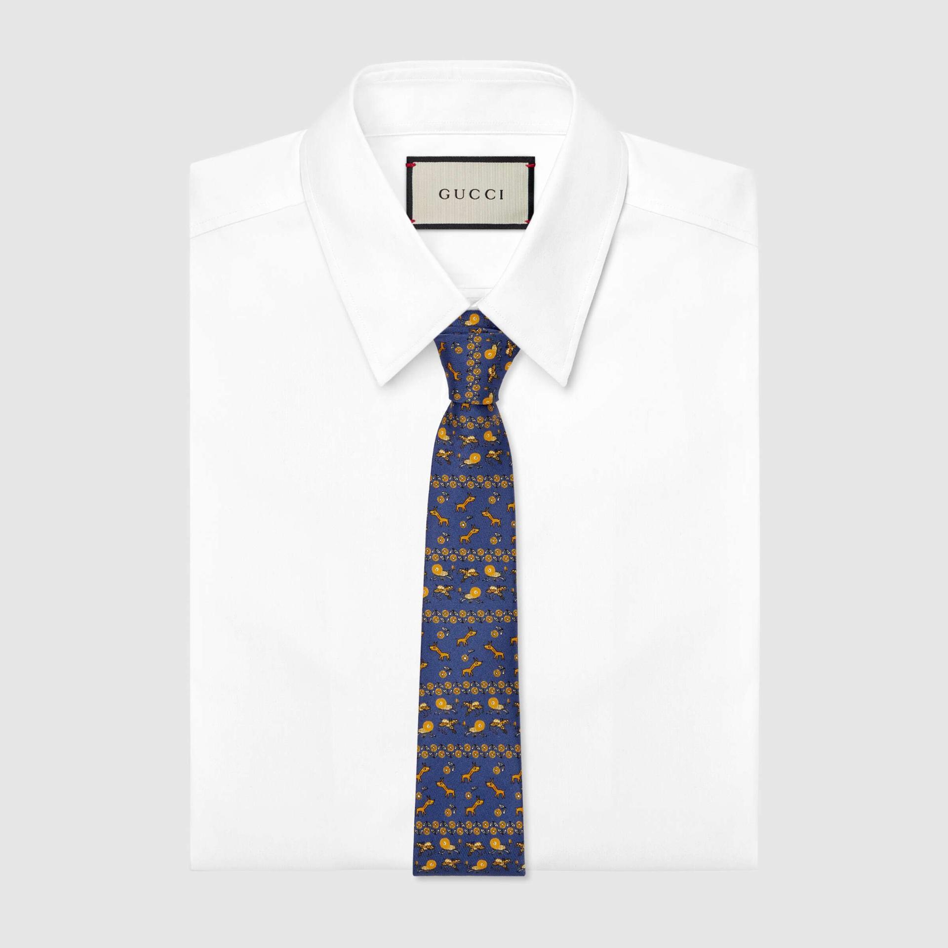 유럽직배송 구찌 GUCCI Gucci Freya Hartas print silk tie 6568704E0014165