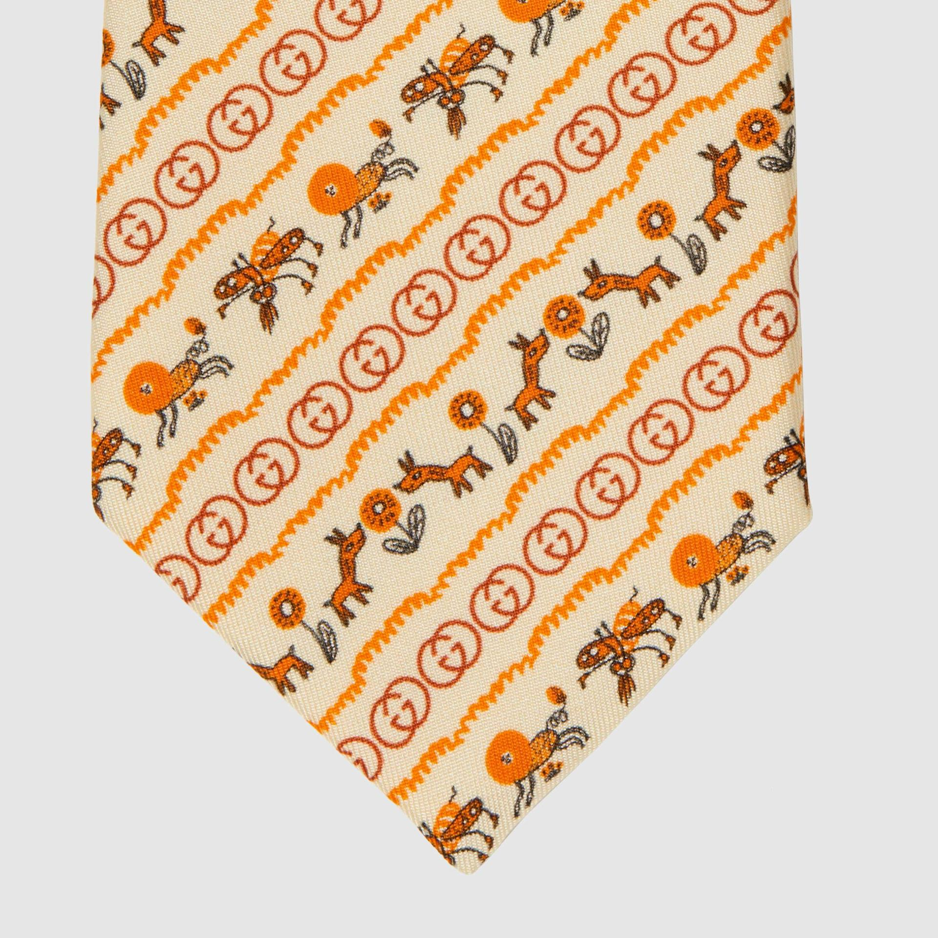 유럽직배송 구찌 GUCCI Gucci Freya Hartas print silk tie 6568714E0019274