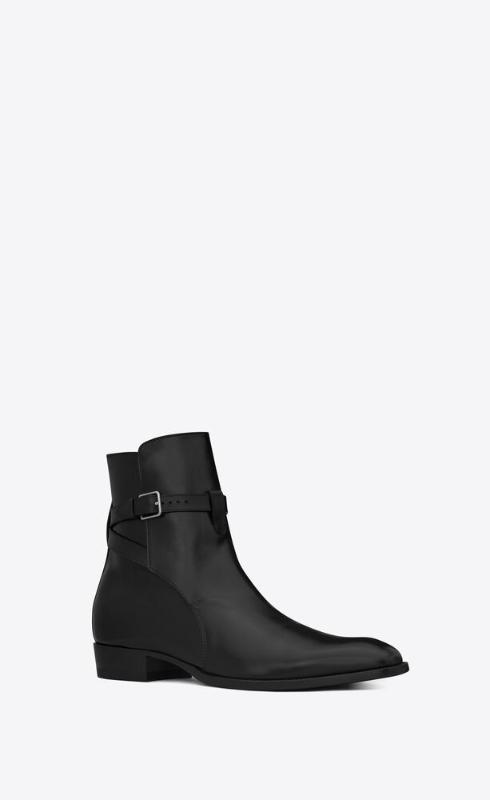 유럽직배송 입생로랑 SAINT LAURENT wyatt jodhpur boots in smooth leather 6634141YL001000