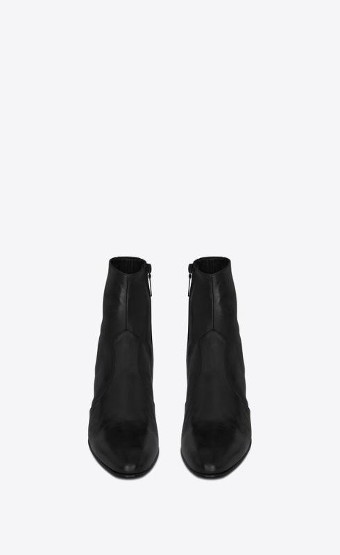 유럽직배송 입생로랑 SAINT LAURENT joey zipped boots in smooth leather 66761725N001000