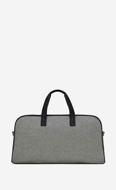 유럽직배송 입생로랑 SAINT LAURENT camp duffle bag in cotton and lambskin 63341523Z1E9086