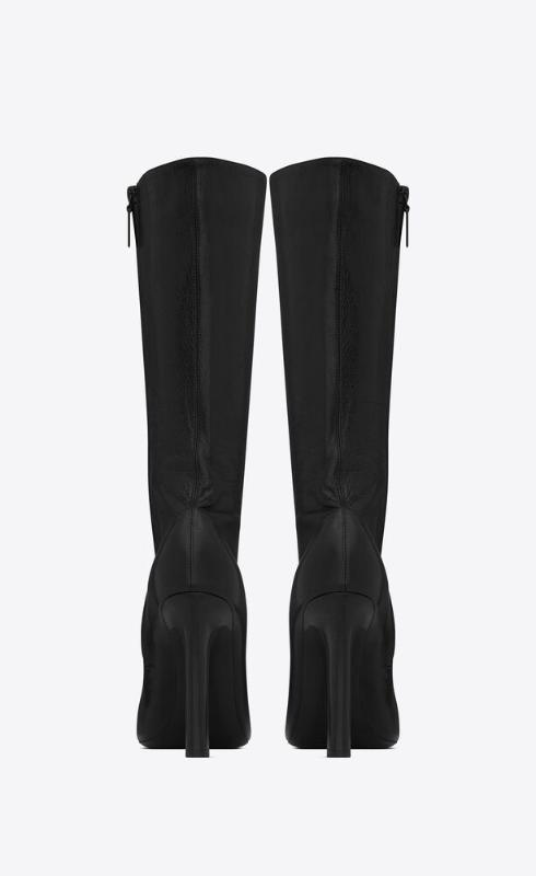 유럽직배송 입생로랑 SAINT LAURENT camden boots in shiny grained leather 66763725V001000