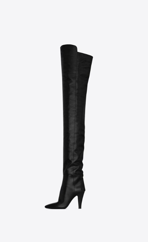 유럽직배송 입생로랑 SAINT LAURENT betty over-the-knee boots in shiny grained leather 66763425V001000