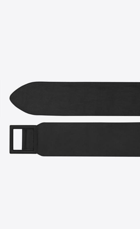 유럽직배송 입생로랑 SAINT LAURENT wrapped corset belt in supple shiny calfskin 66987827K0D1000