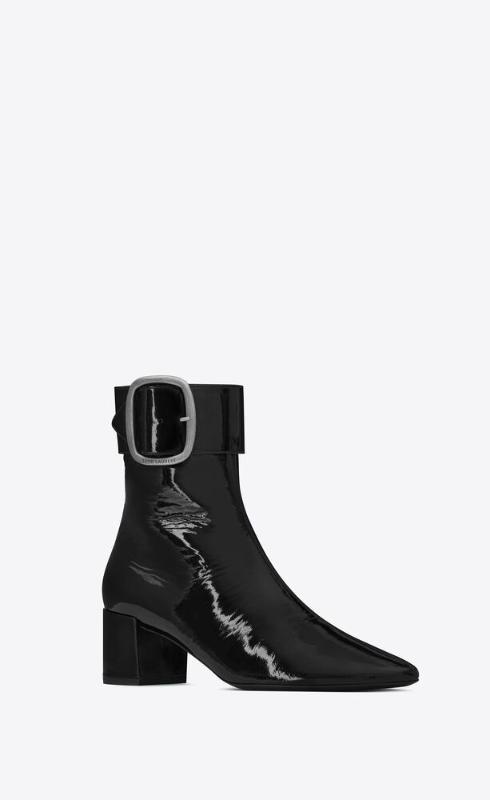유럽직배송 입생로랑 SAINT LAURENT joplin booties in patent leather 66941325W001000