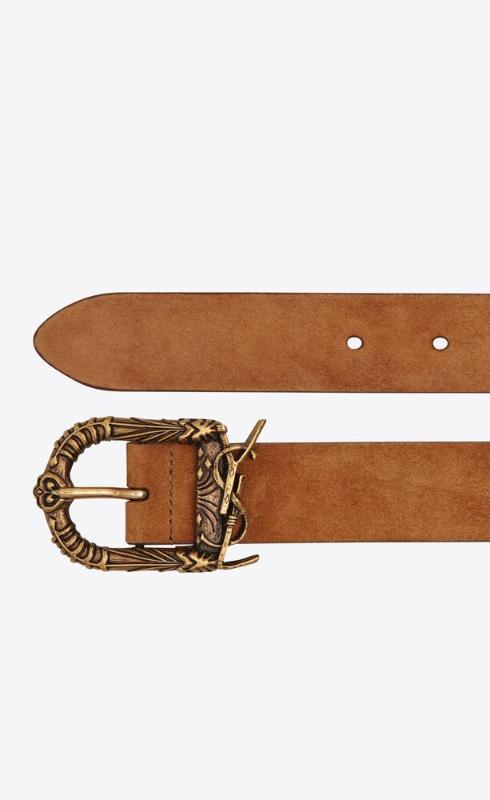 유럽직배송 입생로랑 SAINT LAURENT celtic buckle belt in suede 533721C0X0W2516