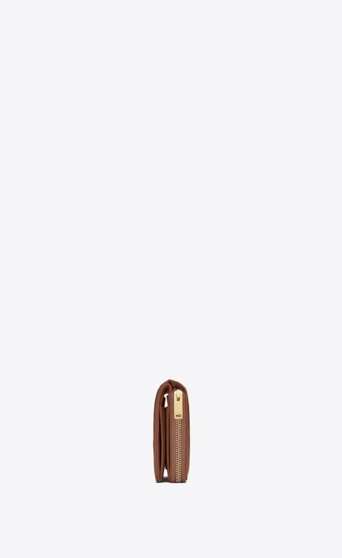 유럽직배송 입생로랑 SAINT LAURENT monogram compact zip around wallet in quilted grained leather 668288BOW012516