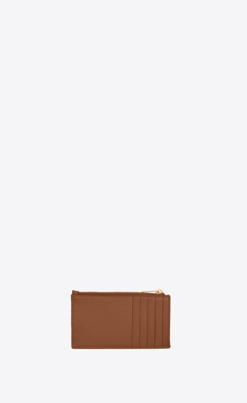 유럽직배송 입생로랑 SAINT LAURENT monogram fragments zippered card case in grain de poudre embossed leather 607915BOW012516