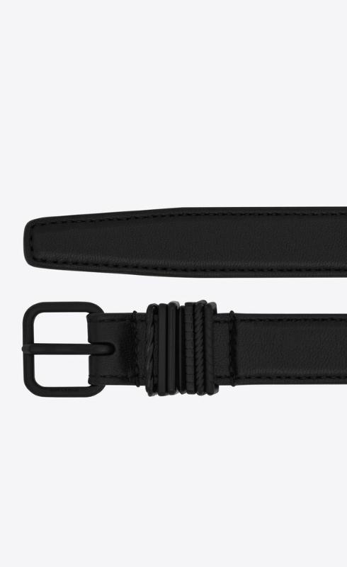 유럽직배송 입생로랑 SAINT LAURENT stacked-loop belt in lambskin 649240DSF0X1000