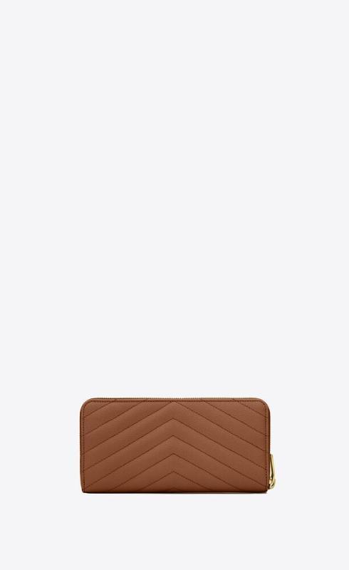 유럽직배송 입생로랑 SAINT LAURENT monogram zip around wallet in grain de poudre embossed leather 358094BOW012516