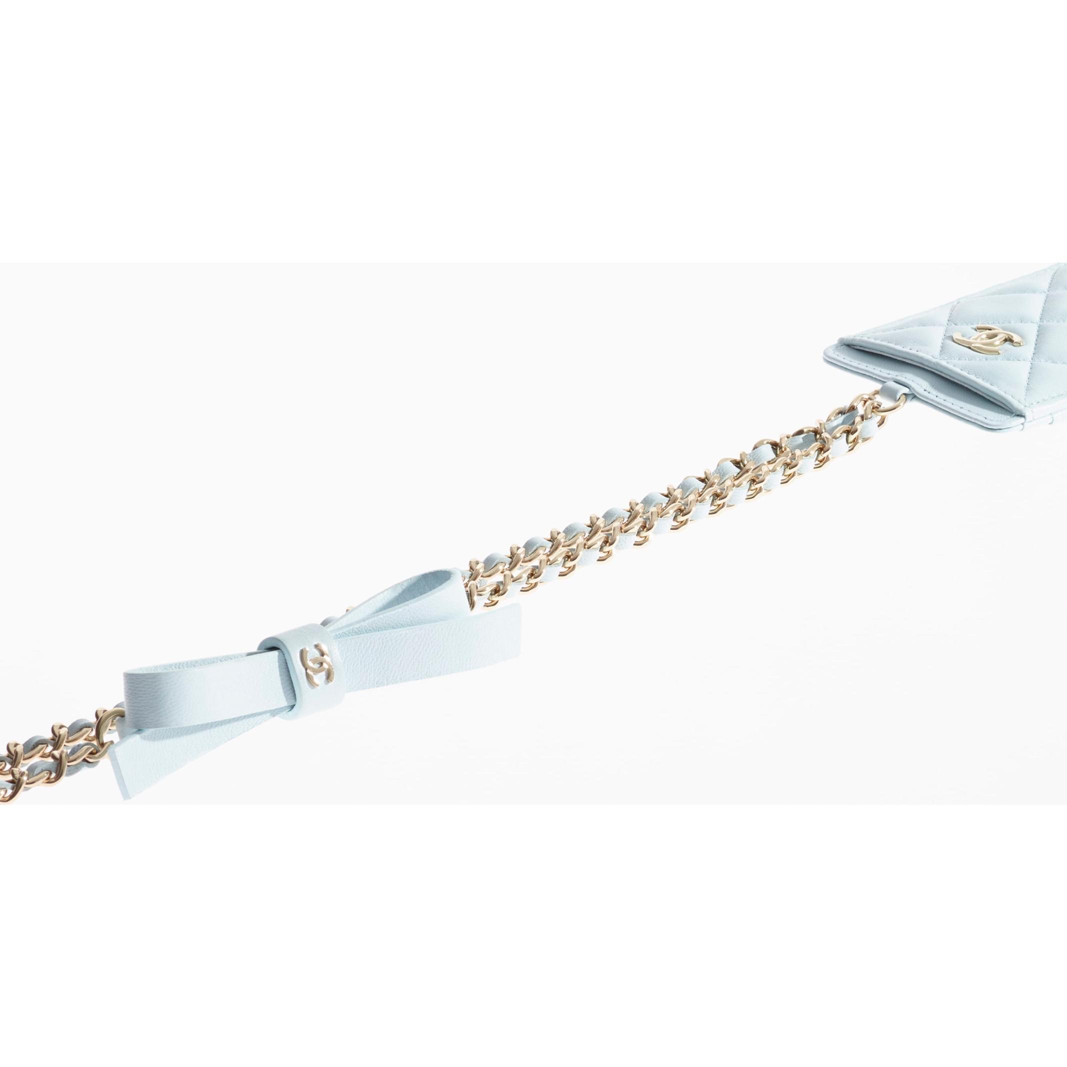 유럽직배송 샤넬 CHANEL Card Holder with Chain AP2421B06747NF290
