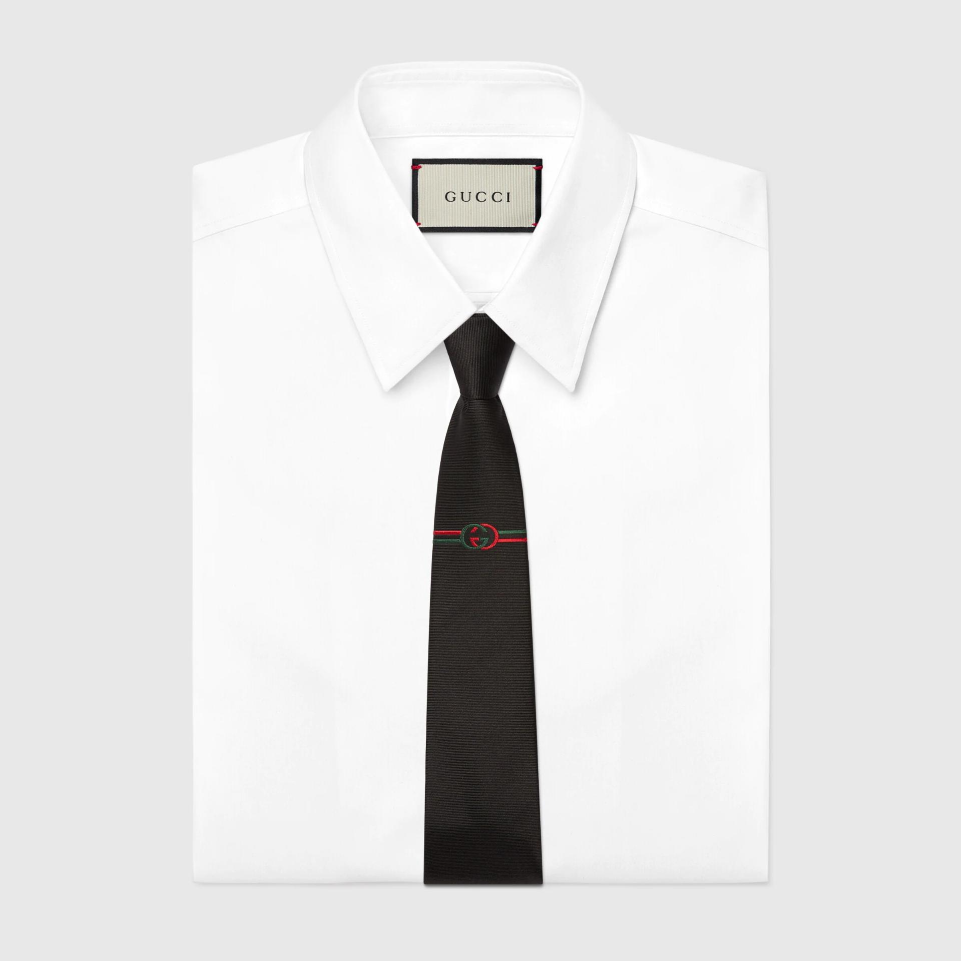 유럽직배송 구찌 GUCCI Gucci Interlocking G silk jacquard tie  6778844E0021000