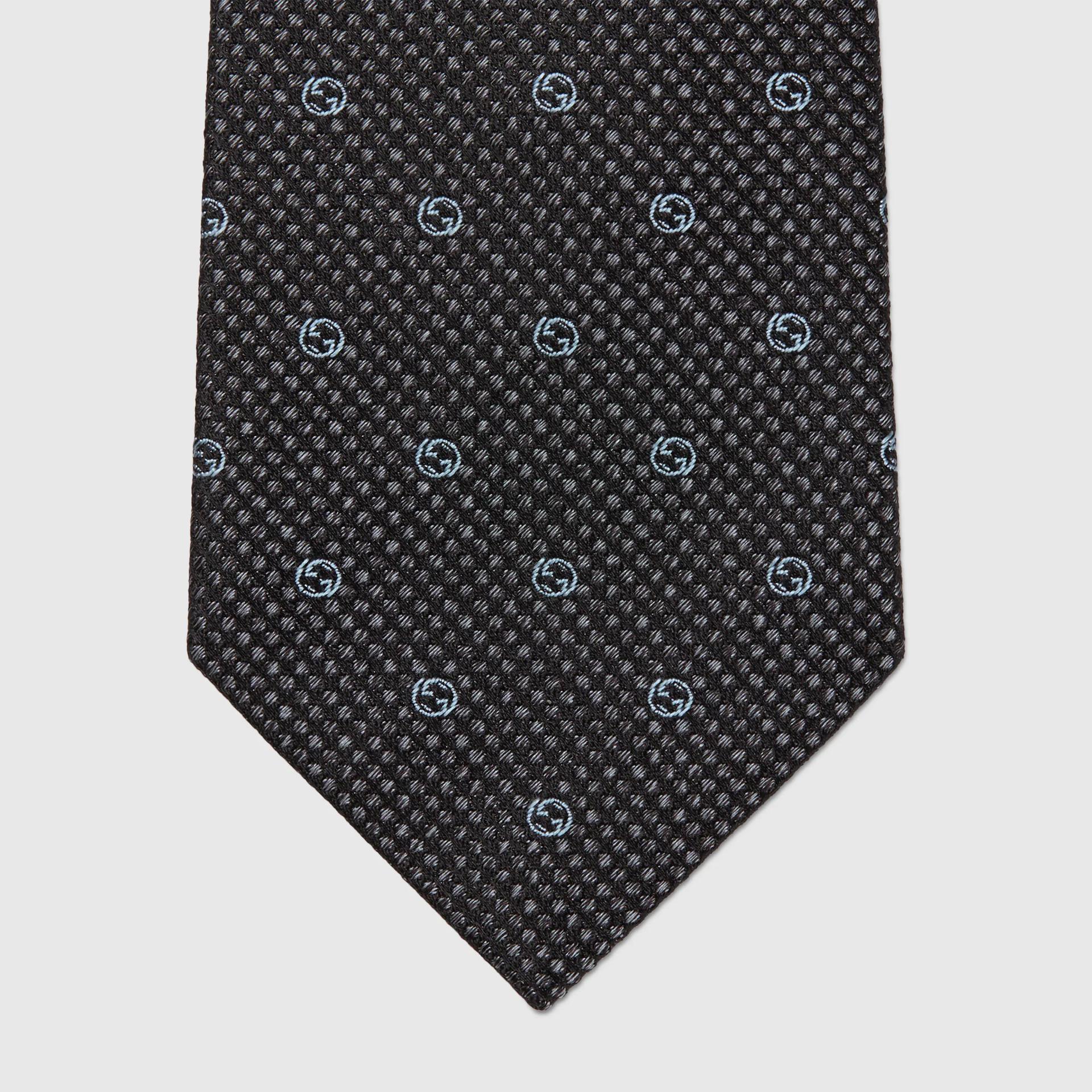 유럽직배송 구찌 GUCCI Gucci Interlocking G silk jacquard tie 6724644E0021169