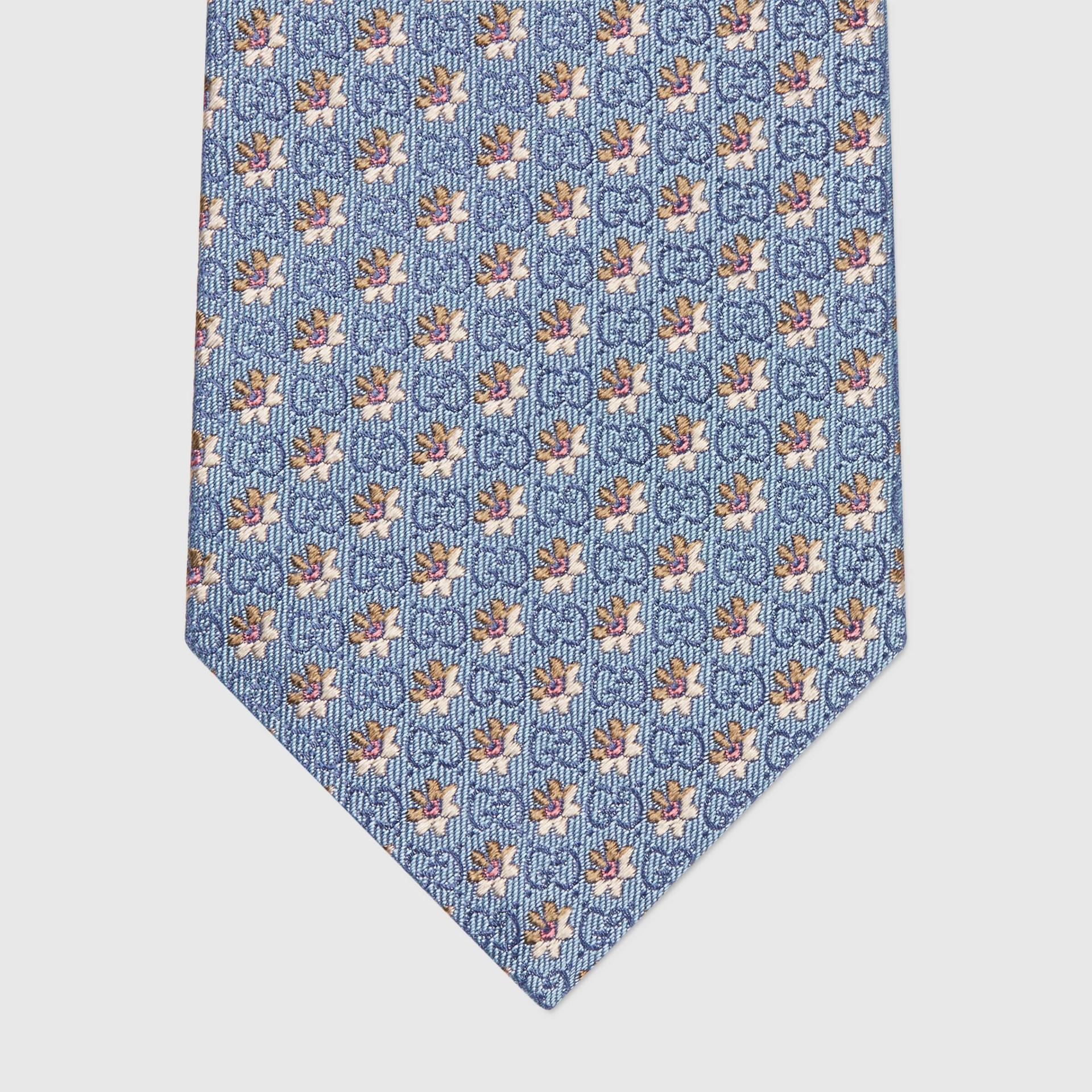 유럽직배송 구찌 GUCCI Gucci Flowers and GG silk jacquard tie 6725654E0024978